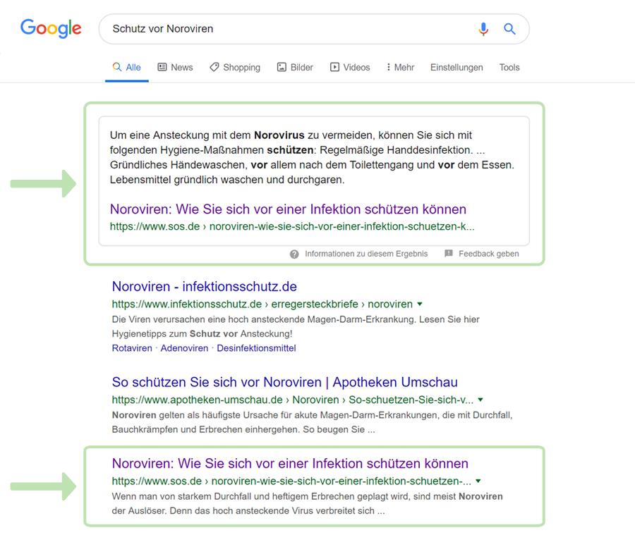 Bei Google auf Platz 0 - SEO mit Featured Snippet