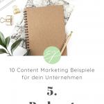 10 Content Marketing Beispiele für dein Unternehmen. Hole dir hier frische Ideen für Lifestyle-Marken! #5: Podcast