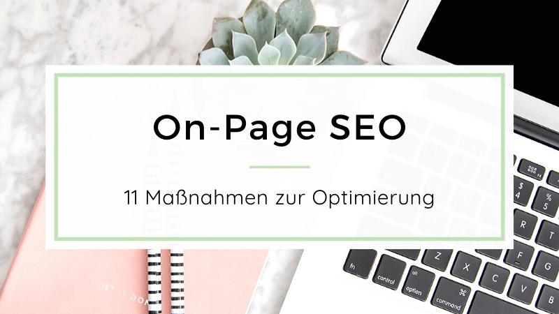 On-Page SEO - Optimierung für Websites - mit Checkliste