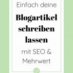 Suchmaschinenoptimierte Blogartikel schreiben lassen