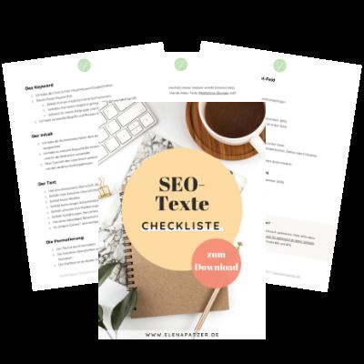 SEO-Texte Checkliste - kostenloser Download