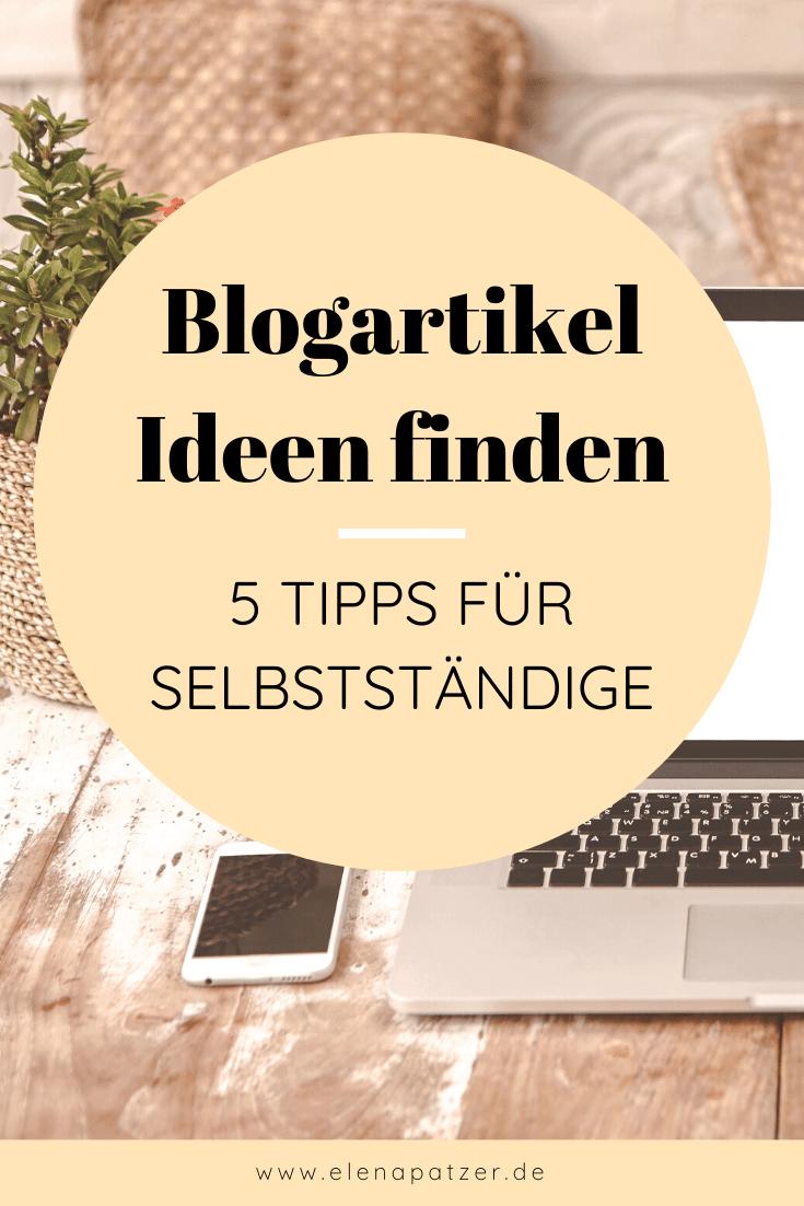 Neue Blogartikel-Ideen