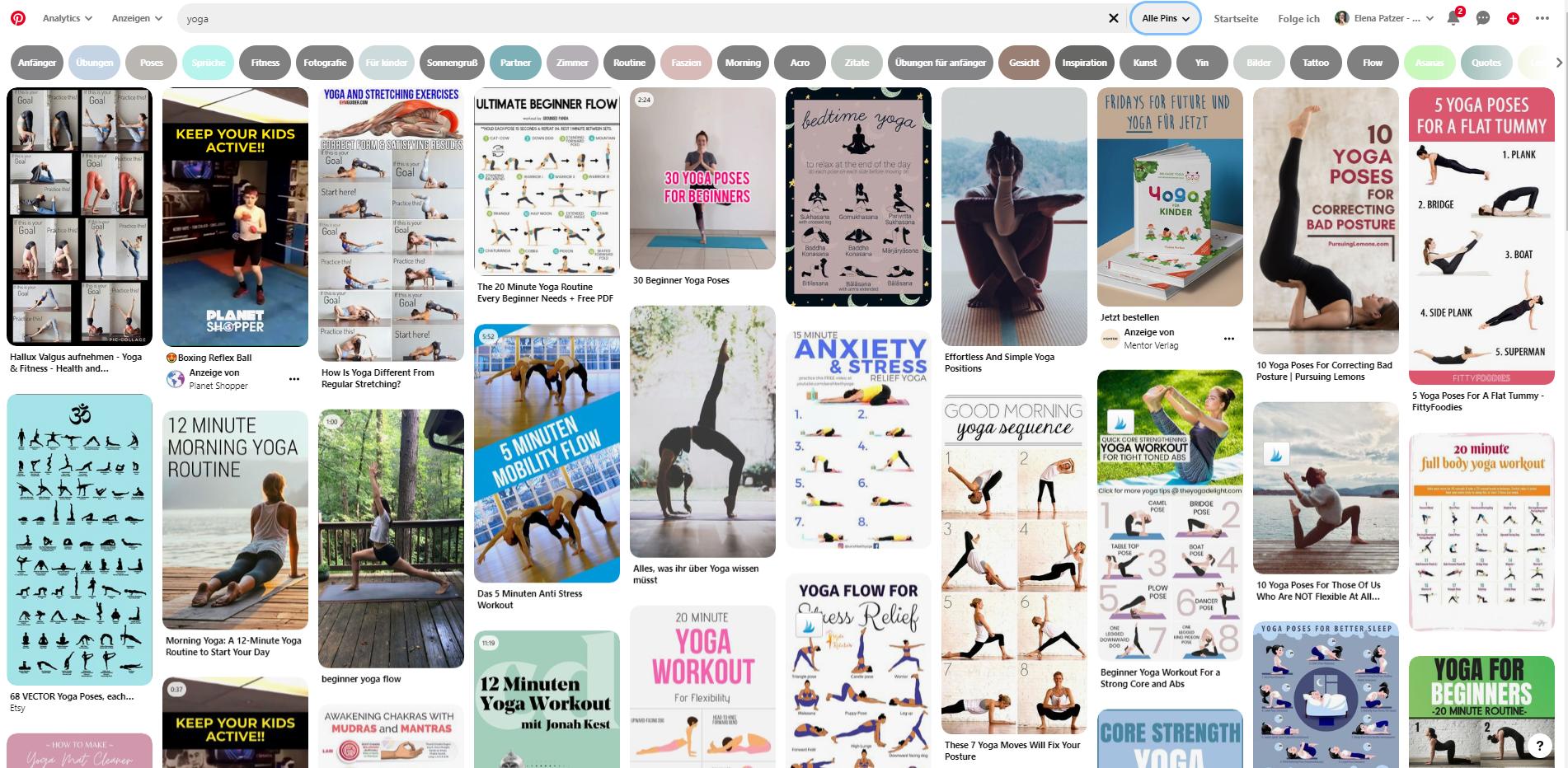 Blogartikel-Ideen zum Thema Yoga bei Pinterest