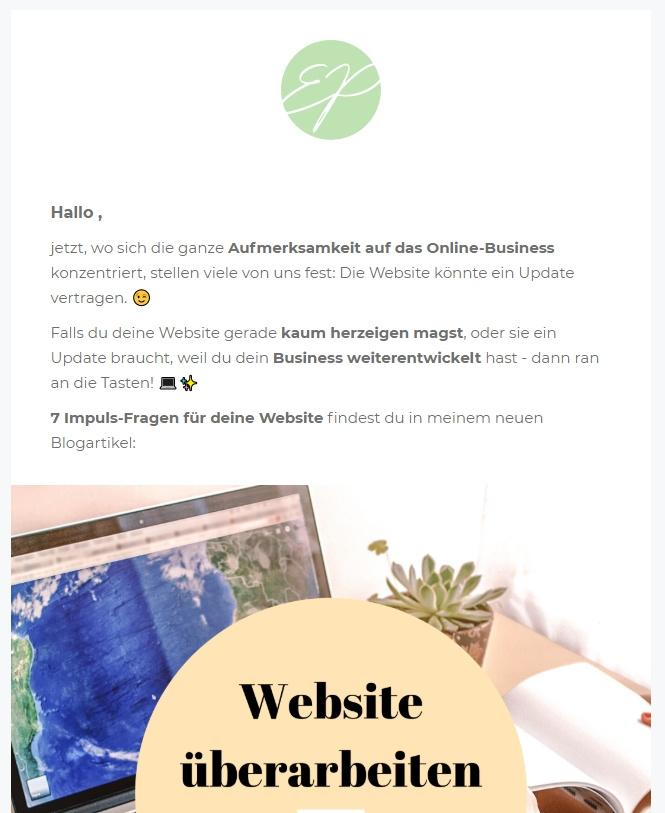 Blogartikel im Newsletter bewerben