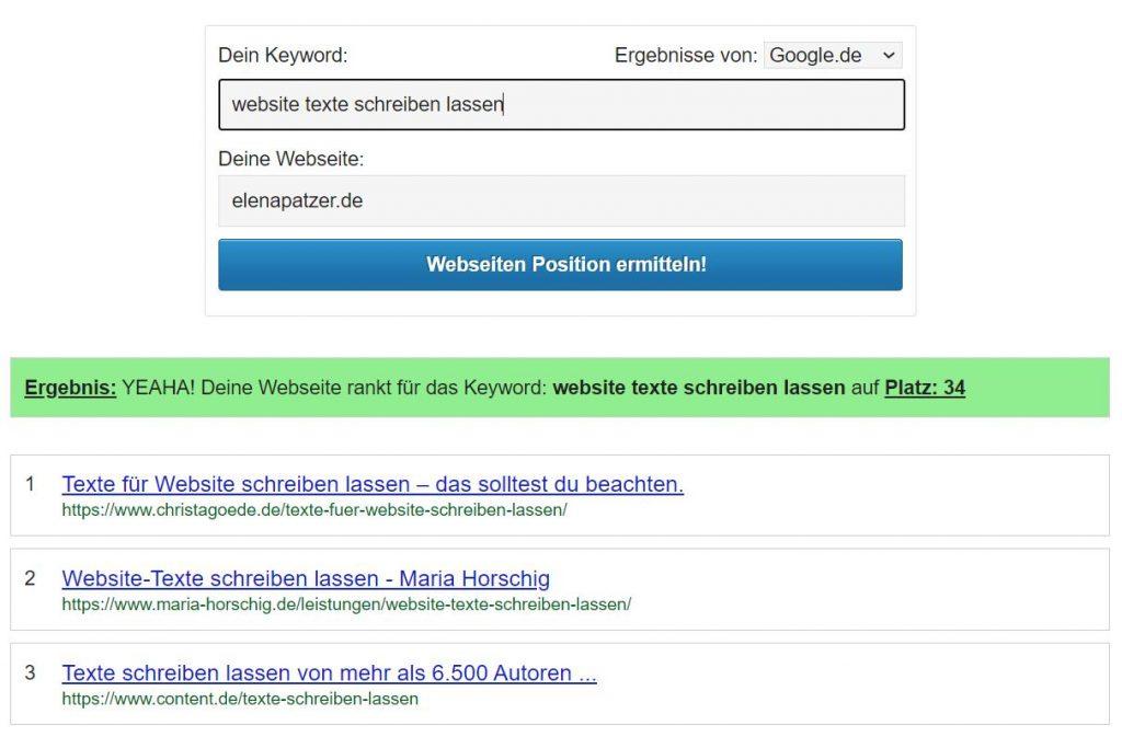 Tool-Tipp: Wie gut wirst du bei Google gefunden? Ranking Check